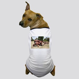 Old rusty tractor in the country Dog T-Shirt