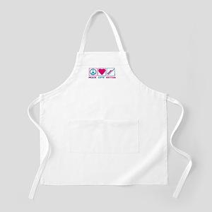 Peace Love Keytar BBQ Apron