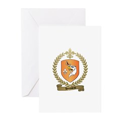 HOUSSEAU Family Crest Greeting Cards (Pk of 10