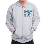 Cancer Warrior Zip Hoodie