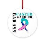 Cancer Warrior Ornament (Round)