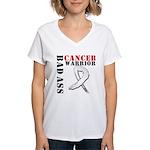 Bone Cancer Warrior Women's V-Neck T-Shirt