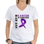 PancreaticCancer Warrior Women's V-Neck T-Shirt