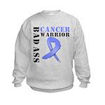 Esophageal Cancer Warrior Kids Sweatshirt