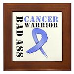 Esophageal Cancer Warrior Framed Tile