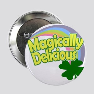 "Magically Delicious Pastel Rainbow 2.25"" Button"
