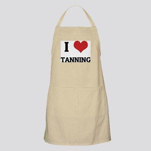 I Love Tanning BBQ Apron