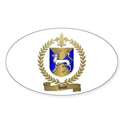HURET Family Crest Oval Decal