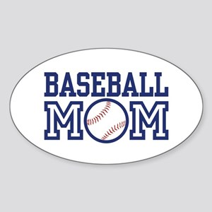 Baseball Mom Oval Sticker