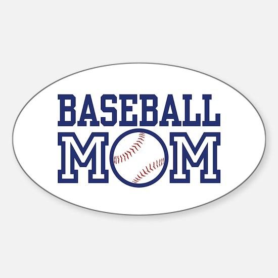 Baseball Mom Oval Decal