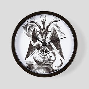 Sabbat Goat Wall Clock