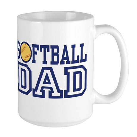 Softball Dad Large Mug