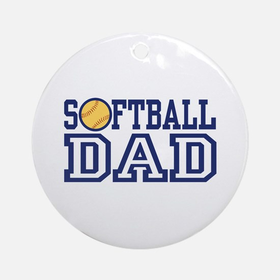 Softball Dad Ornament (Round)