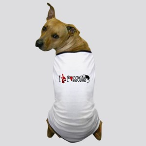 I Love Hearts Possums Dog T-Shirt