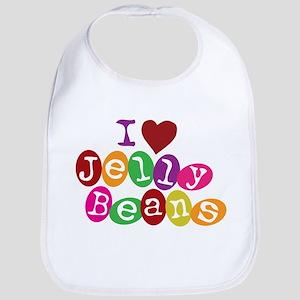 I Love Jellybeans Bib