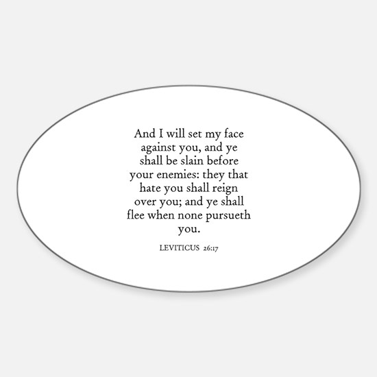LEVITICUS 26:17 Oval Decal