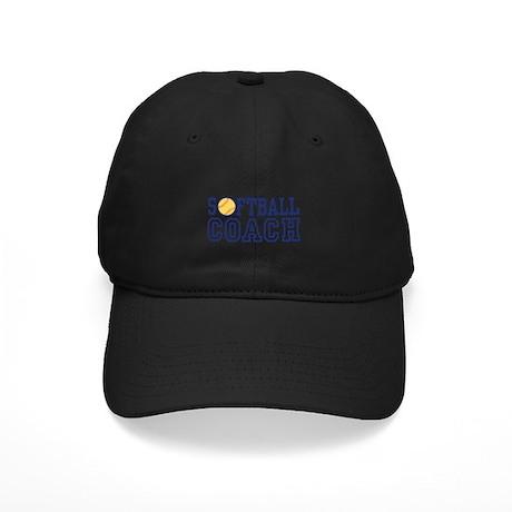 Softball Coach Black Cap