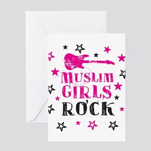 Muslim Girls Rock Greeting Cards