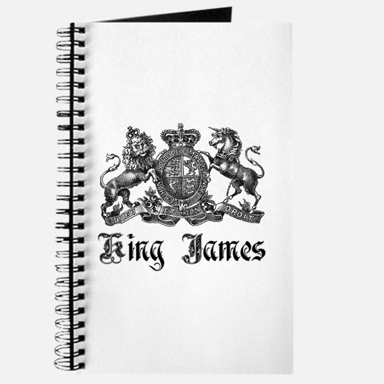 King James Vintage Crest Family Name Journal