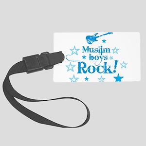 Muslim Boys Rock Luggage Tag