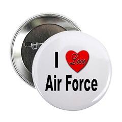 I Love Air Force Button