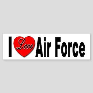 I Love Air Force Bumper Sticker