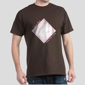 Think Pink Greyhound Dark T-Shirt