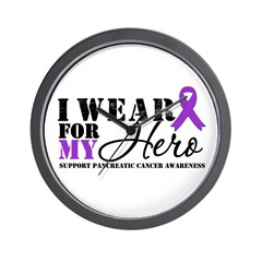 Pancreatic Cancer Hero Wall Clock