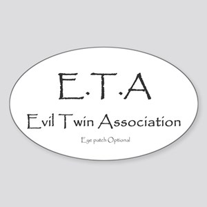 Evil Twin Association Oval Sticker