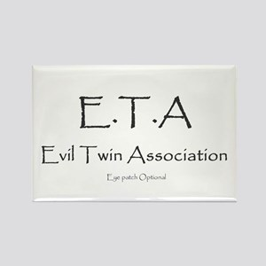 Evil Twin Association Rectangle Magnet