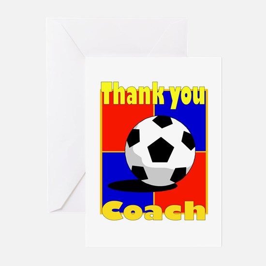 Funny Coach soccer Greeting Cards (Pk of 10)