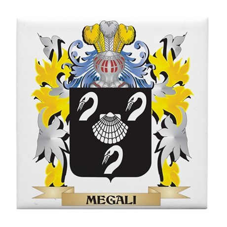 Megali Coat of Arms - Family Crest Tile Coaster