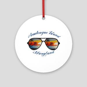 Maryland - Assateague Island Round Ornament