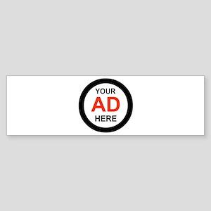 ADVERTISE HERE Bumper Sticker