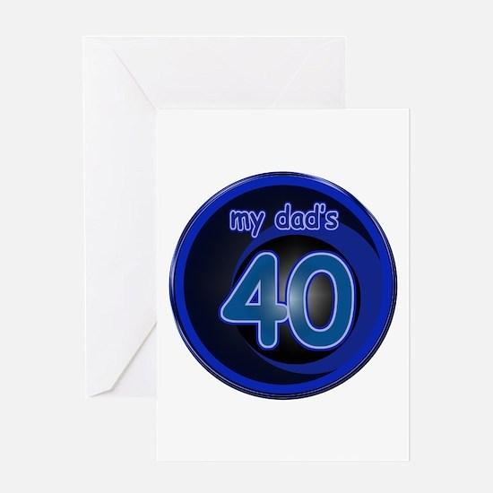 Dad's 40th Bday Greeting Card