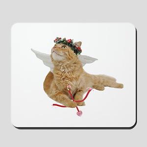Orange Cupid Cat Mousepad