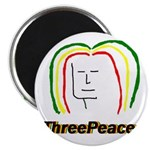 "ThreePeace Rasta 2.25"" Magnet (100 pack)"