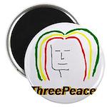"ThreePeace Rasta 2.25"" Magnet (10 pack)"