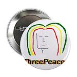 "ThreePeace Rasta 2.25"" Button (100 pack)"