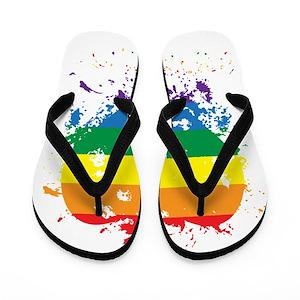 330d8de04ccd Gay Pride Proud Kids Flip Flops - CafePress