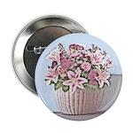 "2.25"" Floral Basket Button (10 pack)"