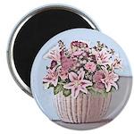 """2.25"""" Pastel Floral Basket Magnets (10 pack)"""
