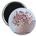 Pastel Basket of Flowers Magnet