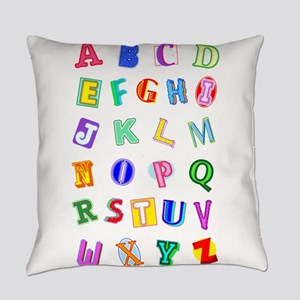 Alphabet for Blanket Everyday Pillow