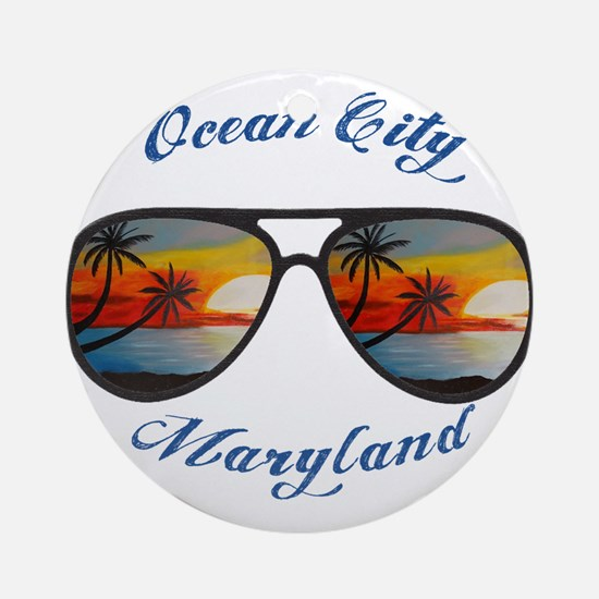 Maryland - Ocean City Round Ornament