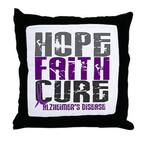 HOPE FAITH CURE Alzheimer's Disease Throw Pillow
