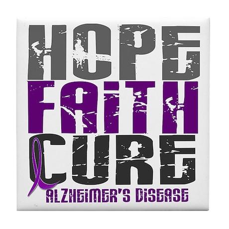 HOPE FAITH CURE Alzheimer's Disease Tile Coaster