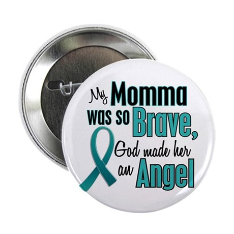 """Angel 1 TEAL (Momma) 2.25"""" Button"""