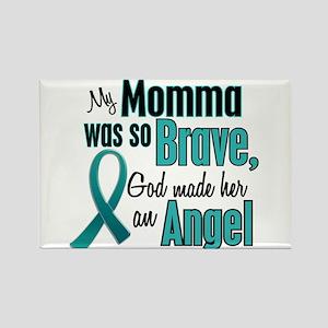 Angel 1 TEAL (Momma) Rectangle Magnet
