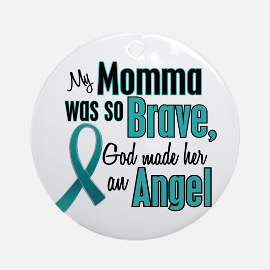 Angel 1 TEAL (Momma) Ornament (Round)